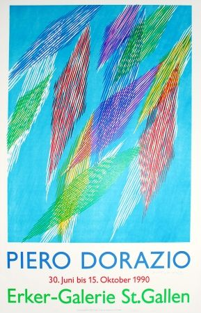 リトグラフ Dorazio - Untitled (Exhibition Poster)