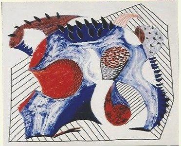 リトグラフ Hockney - Untitled for Joel Wachs