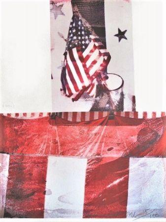 リトグラフ Rauschenberg - Untitled (For Kennedy)