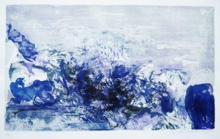 リトグラフ Zao - Untitled (from: A la gloire de l'image)