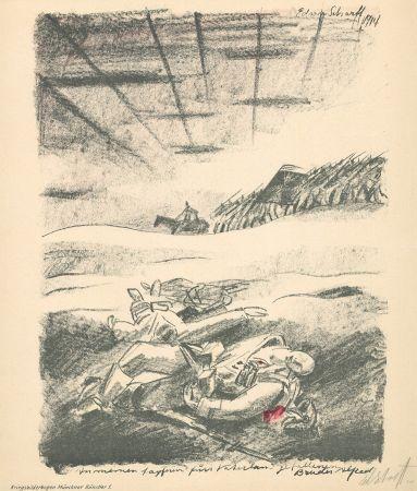 リトグラフ Scharff - Untitled, from Kriegsbilderbogen Münchner Künstler