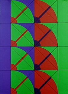 リトグラフ Pomodoro - Untitled geometric abstract