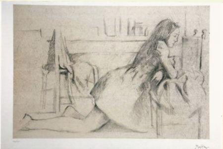 リトグラフ Balthus - Untitled I (meditation)