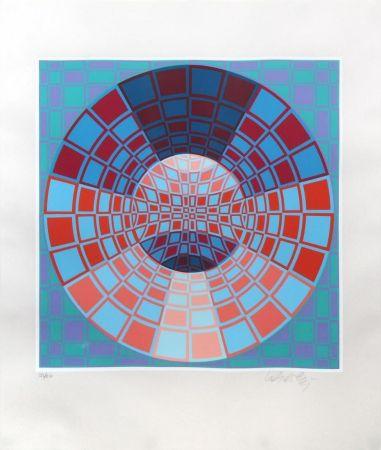 シルクスクリーン Vasarely - Untitled II