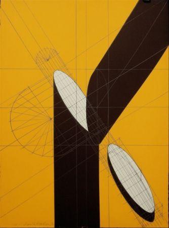 リトグラフ Pomodoro - Untitled (Spliced Column)