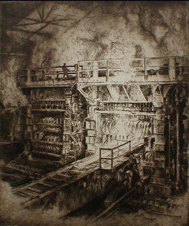 エッチング Kuhler - Untitled (steel mill)