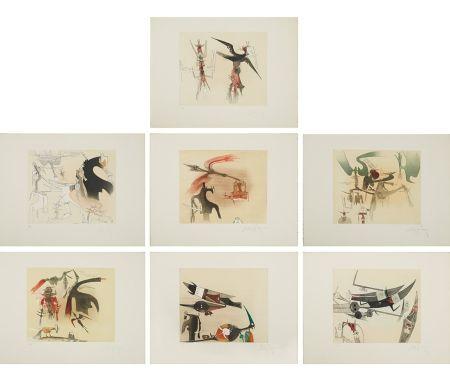 エッチングと アクチアント Lam - Untitled Suite (TR 7901-7907)