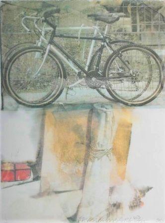 シルクスクリーン Rauschenberg - Untitled (Two Bicycles)