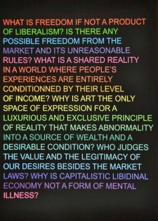 シルクスクリーン Fontaine - Untitled: (What is freedom?)