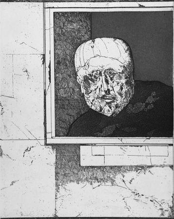 エッチング Plattner - Uomo alla finestra