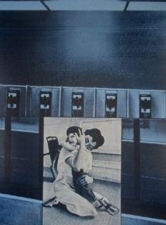 シルクスクリーン Monory - USA 76 - etreinte