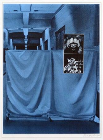 シルクスクリーン Monory - USA 76 - Singe