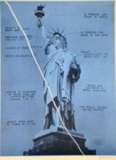シルクスクリーン Monory - USA 76 - Statue de la liberté