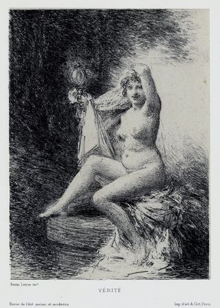 リトグラフ Fantin-Latour - Vérité (petite planche)