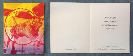 シルクスクリーン Monory - Vœux d'Aimé Maeght pour 1978 : SÉRIGRAPHIE ORIGINALE DE MONORY