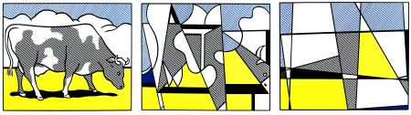 リトグラフ Lichtenstein - Vaches