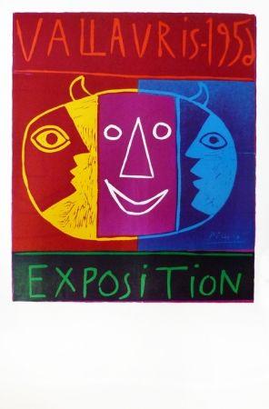 リノリウム彫版 Picasso - Vallauris 1956