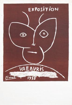 リノリウム彫版 Picasso - Vallauris 55