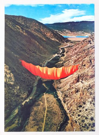 オフセット Christo - Valley curtain, Rifle - Colorado 4-4