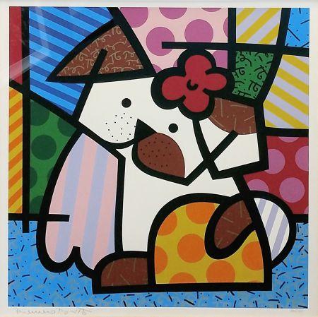 シルクスクリーン Britto - VALLEY DOG