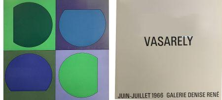 挿絵入り本 Vasarely - Vasarely Juin Juillet 1966 - Galerie Denise René