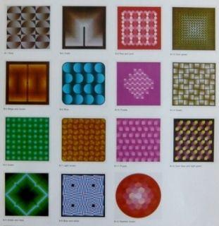 リトグラフ Bird - Vasarely reflections - 15 lithographs