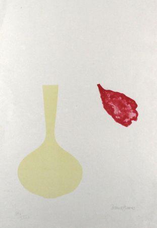 リトグラフ Greaves - Vase and Falling Petal