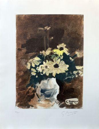エッチング Braque (After) - Vase de fleurs jaunes