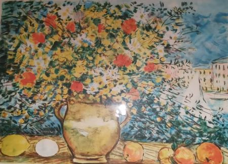 リトグラフ Cascella - Vaso di fiori