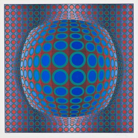 シルクスクリーン Vasarely - Vega