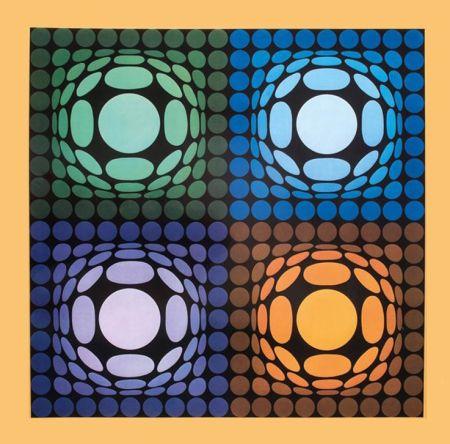輪転グラビア印刷 Vasarely - '' VEGA BI ARCT ''