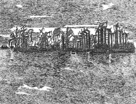 エッチング Zancanaro - Venezia industriale