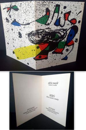 リトグラフ Miró - Vernissage Miró Dibuixos, Gouaches, Monotips Galeria Maeght