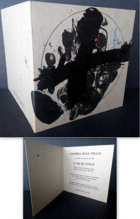 リトグラフ Tàpies - Vernissage U no es Ningú Galería oan Prats
