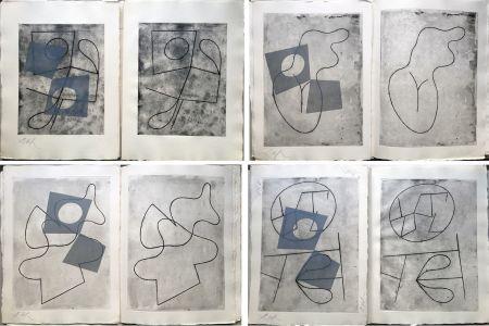 挿絵入り本 Arp - VERS LE BLANC INFINI. Exemplaire unique avec les gravures signées (1960).