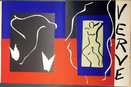 リトグラフ Matisse - VERVE Vol. I n° 1. COUVERTURE À PLAT À GRANDES MARGES