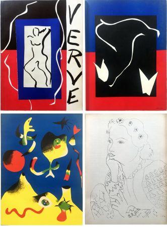 挿絵入り本 Matisse - VERVE Vol. I n° 1. (couverture de Matisse).
