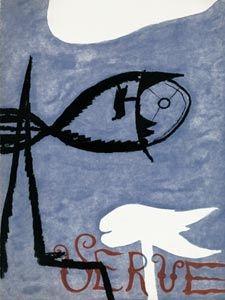 挿絵入り本 Braque - VERVE VOL. I n° 2. (Couverture de G. Braque)