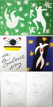 挿絵入り本 Matisse - VERVE. Vol. IV, No. 13. DE LA COULEUR. La Chute d'Icare (1945).