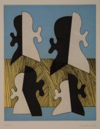 彫版 Gebhard - Vier Köpfe