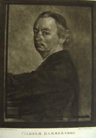 メゾチント彫法 Ilsted - Vilhelm Hammershøi