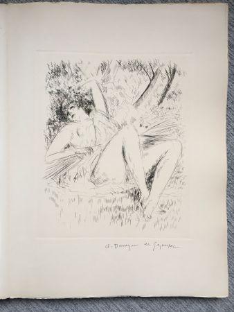 挿絵入り本 De Segonzac - Virgile. LES GEORGIQUES - GEORGICA. 119 eaux-fortes originales dont 46 signées au crayon par l'artiste.