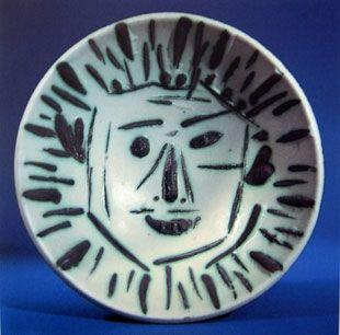 セラミック Picasso - Visage de face