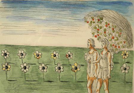 エッチング De Chirico - Visione misteriosa