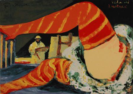 シルクスクリーン Fiume - Vita di Lautrec