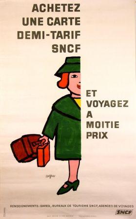 リトグラフ Savignac - Vogagez à Moitié Prix