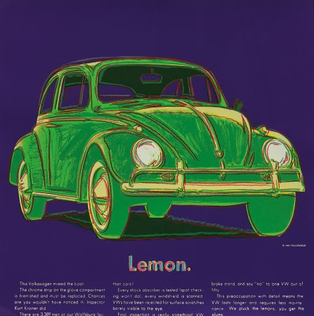 シルクスクリーン Warhol - Volkswagen