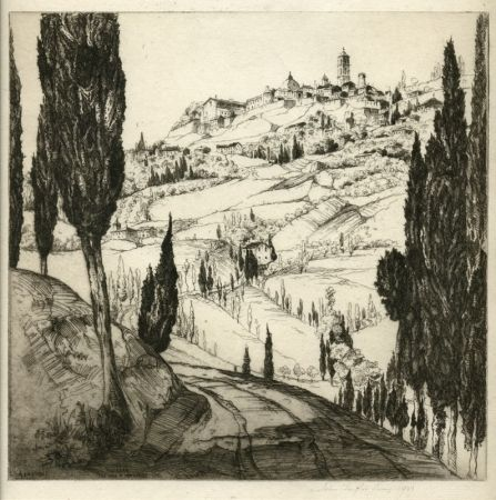 エッチング Arms - Volterra, the Town in the Clouds