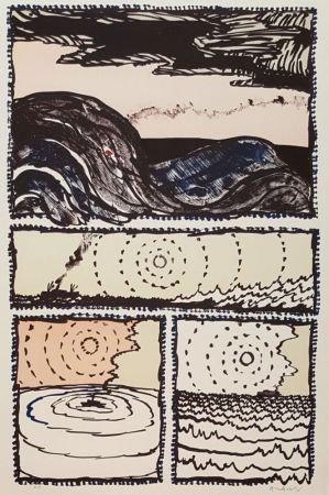 リトグラフ Alechinsky - Volturno