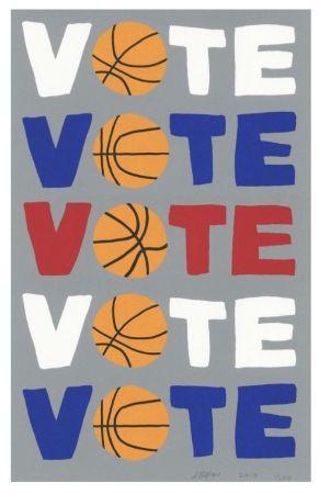 シルクスクリーン Wood - Vote